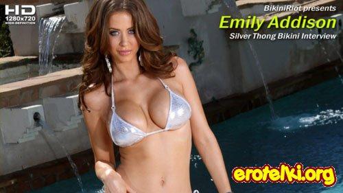"Emily Addison ""Silver Thong Bikini Interview"""