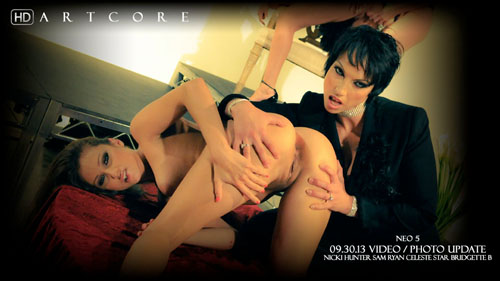 "Bridgette B, Celeste Star, Nicki Hunter & Samantha Ryan ""Neo 5 Nicki Hunter Scene 2"""