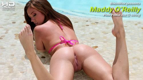 "Maddy O'Reilly ""Pink Polka-dot G-string"""