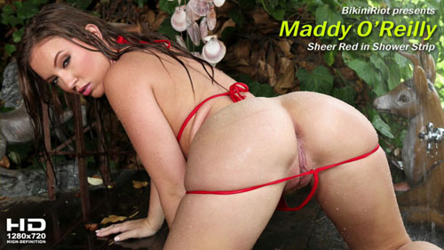 "Maddy O'Reilly ""Sheer Red in Shower"""