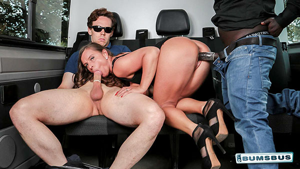 """Sexy Susi """"Interracial Threesome On The Bus"""""""