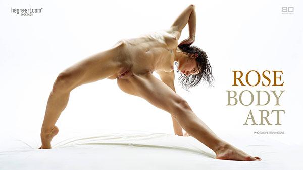 """Rose in """"Body Art"""" by Petter Hegre"""