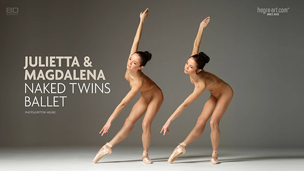"Julietta & Magdalena in ""Naked Twins Ballet"" by Petter Hegre"
