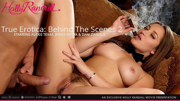 "Alexis Texas, Dani Daniels & Jenna Sativa in ""True Erotica: BTS 2"" by Holly Randall"