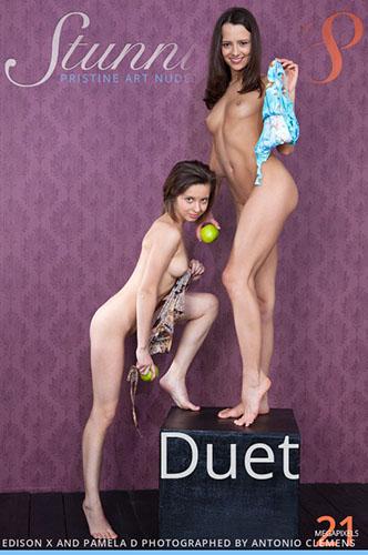 "Edison X & Pamela D in ""Duet"" by Antonio Clemens"