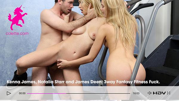 """Kenna James & Natalia Starr """"3way Fantasy Fitness Fuck"""""""