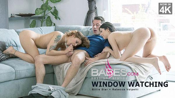 "Billie Star & Rebecca Volpetti ""Window Watching"""