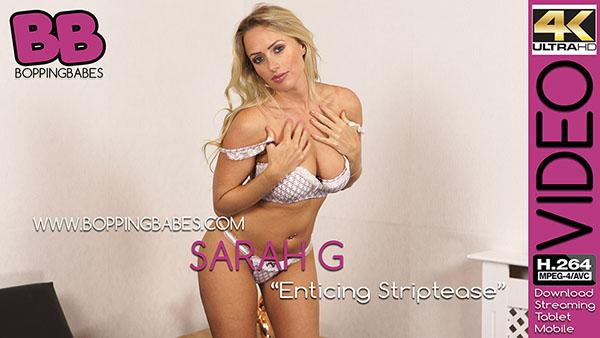 "Sarah G ""Enticing Striptease"""