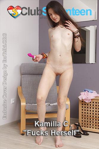 "Kamilla C ""Skinny Flat Chested Teen Fucks Herself"""