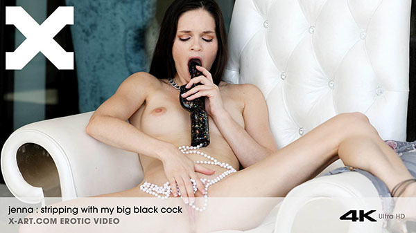 "Jenna ""Stripping With My Big Black Cock"""