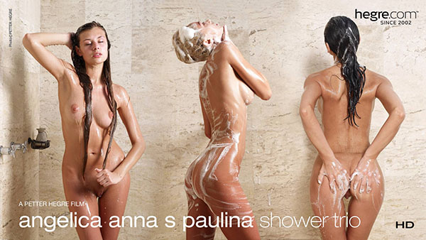 "Anna S, Angelica & Paulina ""Shower Trio"""