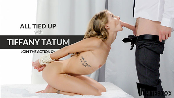 "Tiffany Tatum ""Sexy Woman Sucks Dick While Bound"""