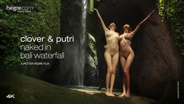 "Clover & Putri ""Naked In Bali Waterfall"""