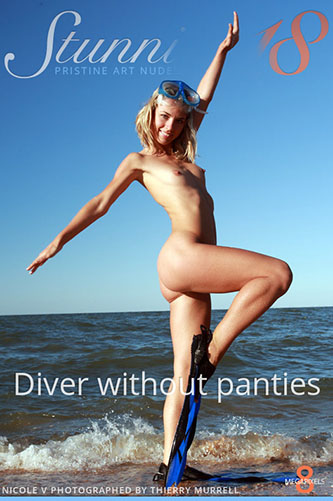 """Nicole V """"Diver Without Panties"""""""