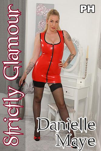 "Danielle Maye ""Red Latex Dress"""