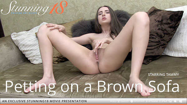 """Tammy """"Petting on a Brown Sofa"""""""